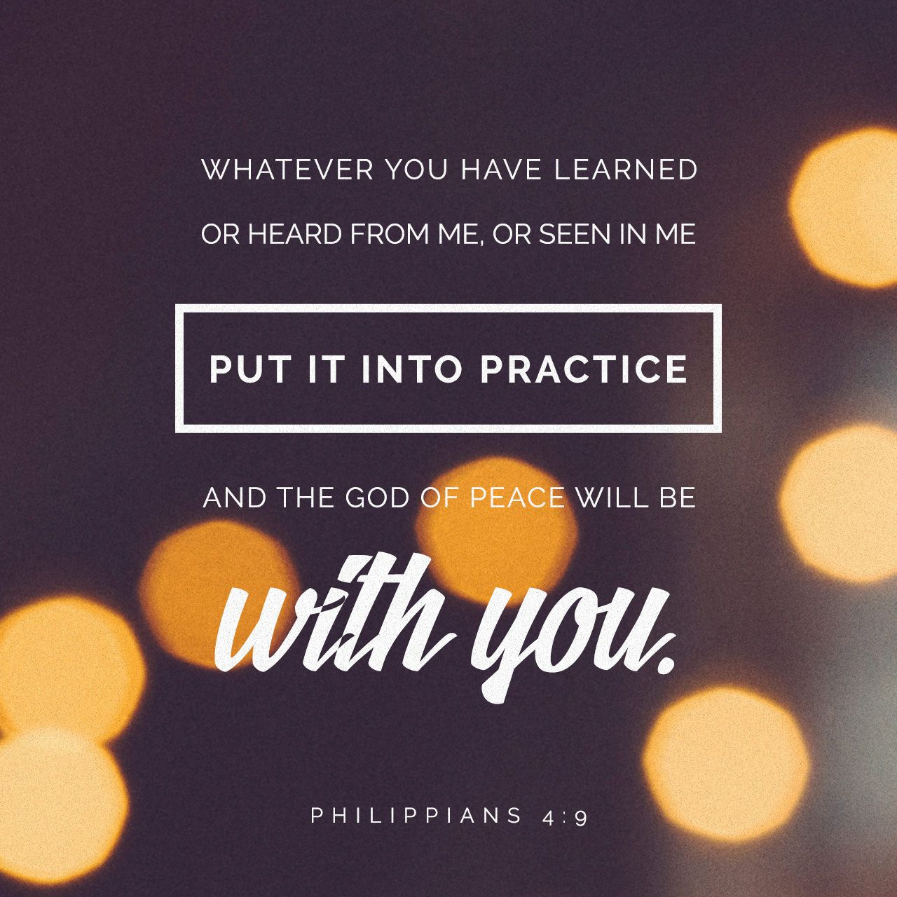 Image result for philippians 4:9